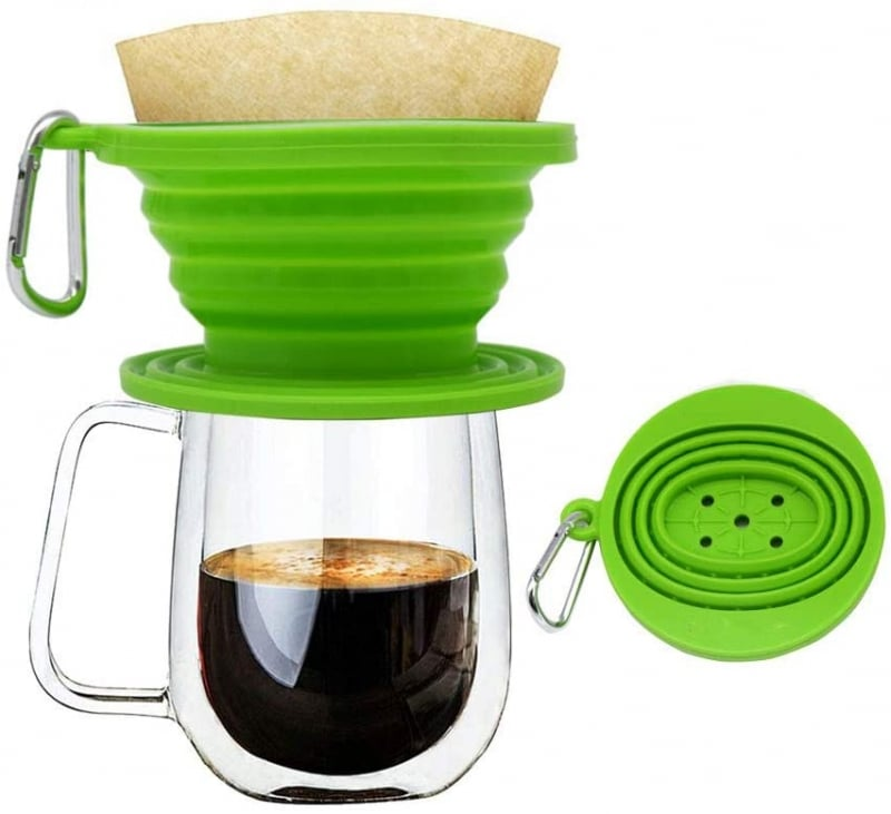 18. Wolecok Collapsible Pour Over Coffee Dripper