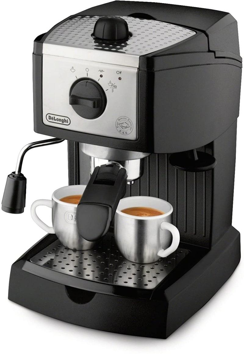2. De'Longhi EC155 15 Bar Espresso and Cappuccino Machine
