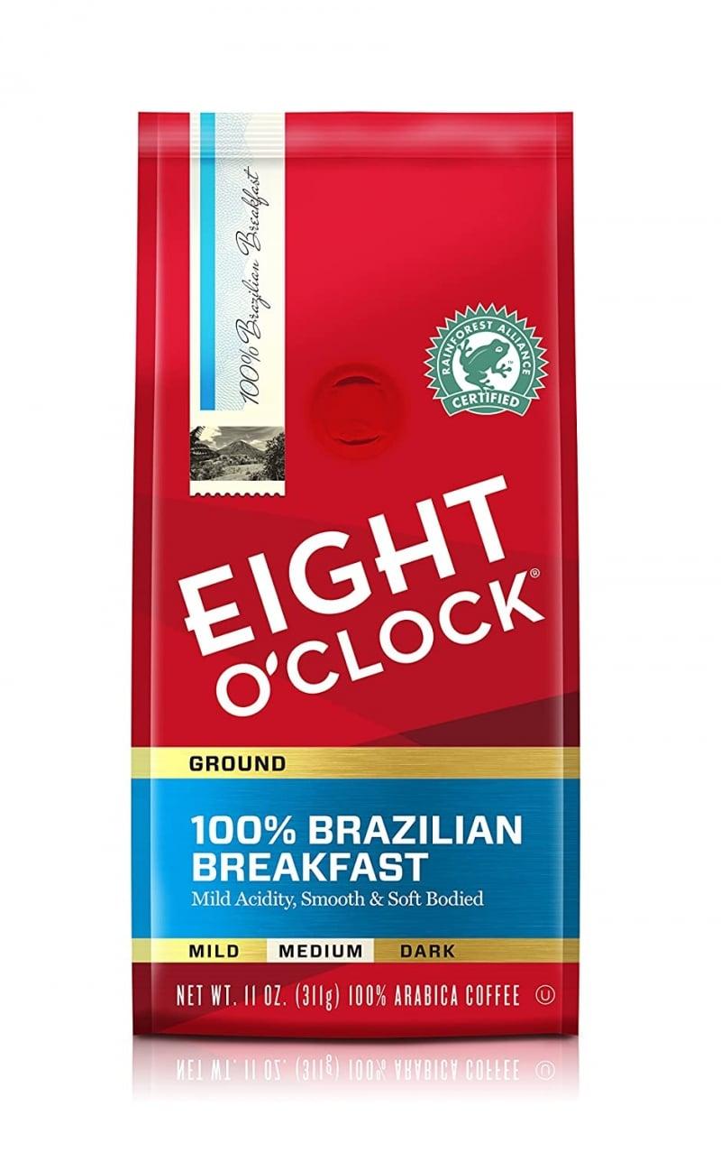 2. Eight O'Clock Coffee 100% Brazilian Breakfast