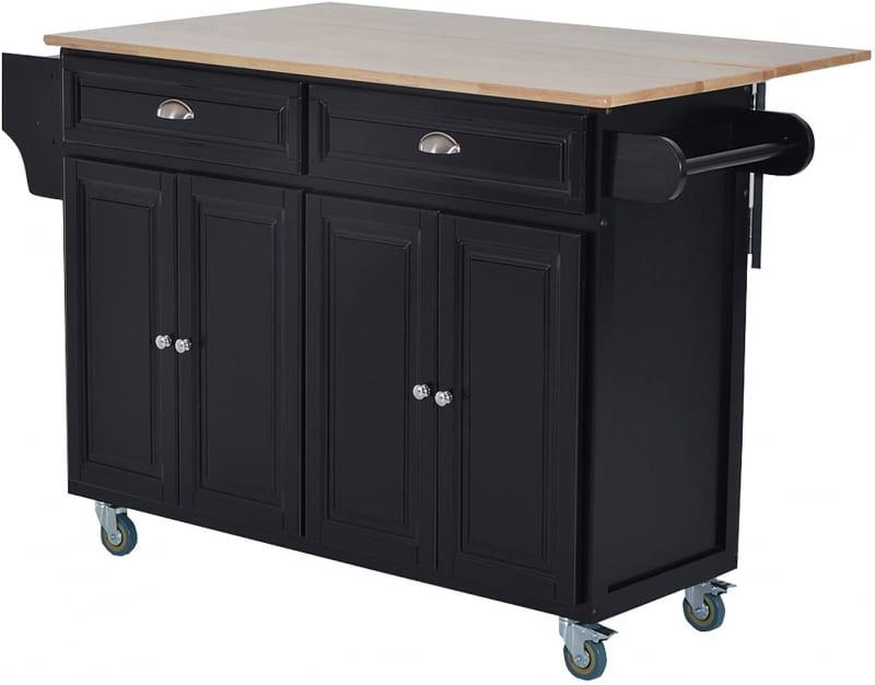 2. HOMCOM Rolling Kitchen Cart