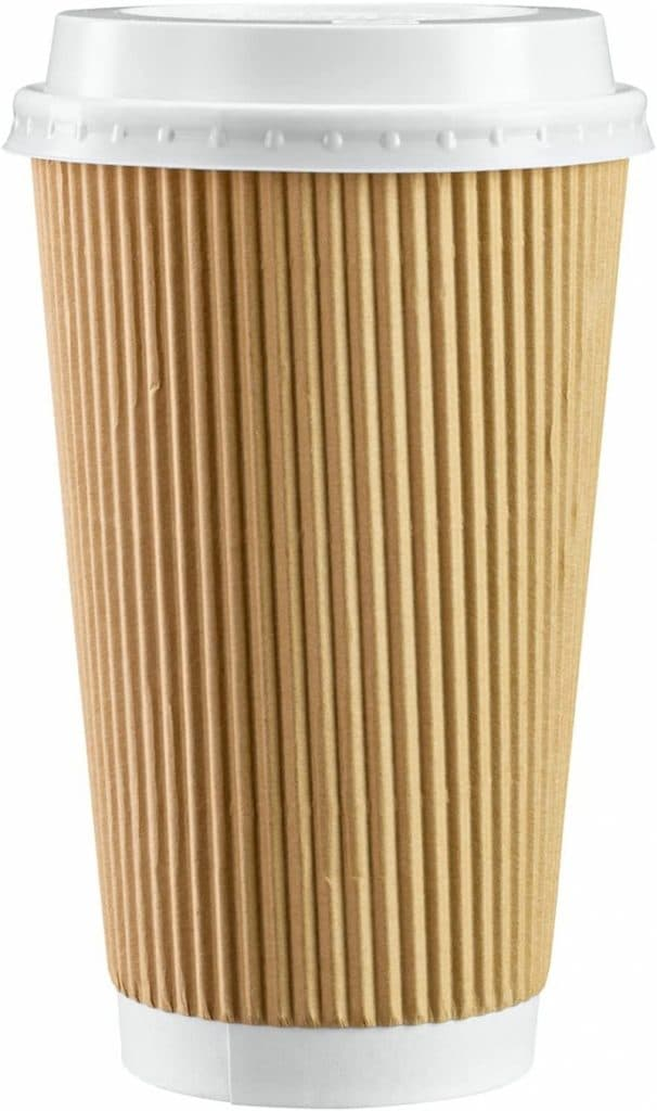 3. Insulated Ripple Paper Hot Coffee Cups With Lids