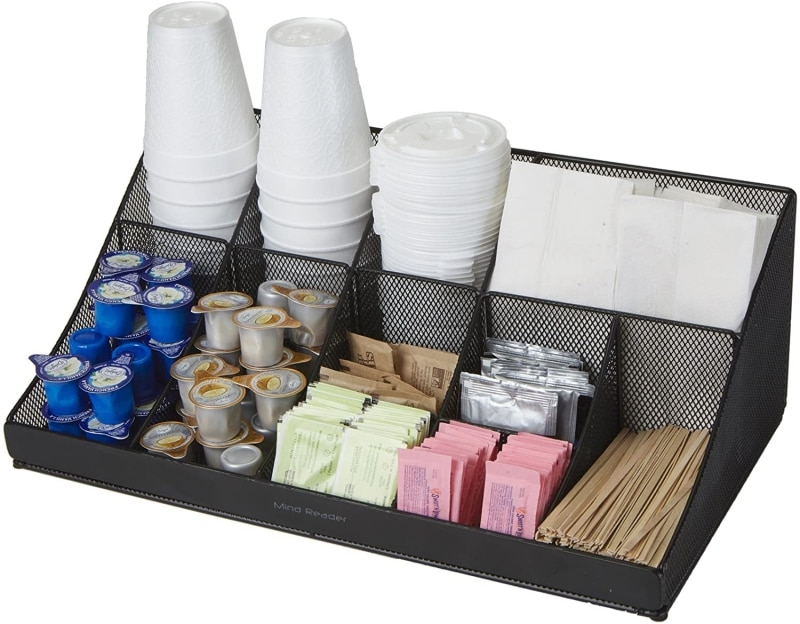 4.  Mind Reader Breakroom Condiment Organizer
