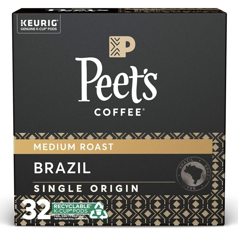 4. Peet's Coffee Single Origin Brazil K-Cup Coffee Pods