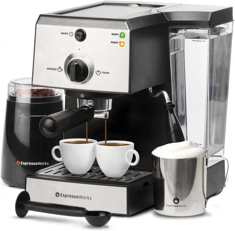 5. 7 Pc All-In-One Espresso Machine & Cappuccino Maker