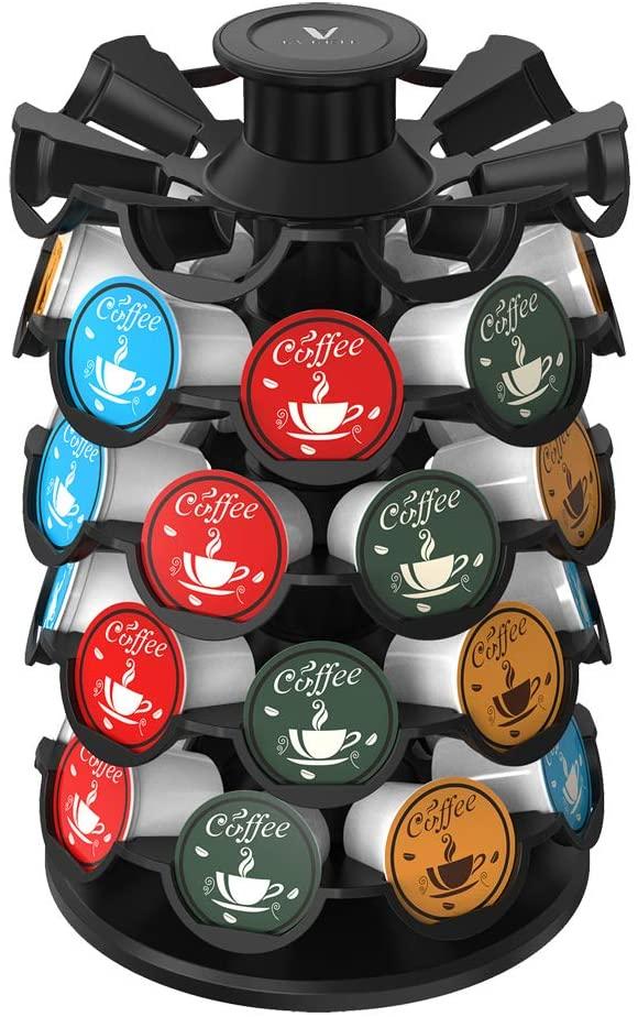 5. Everie Coffee Pod Storage Carousel Holder Organizer