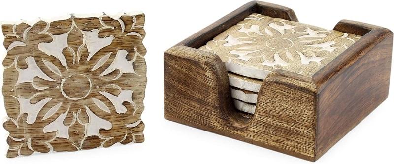 6. SAM + Ollie Boho Wood Coasters