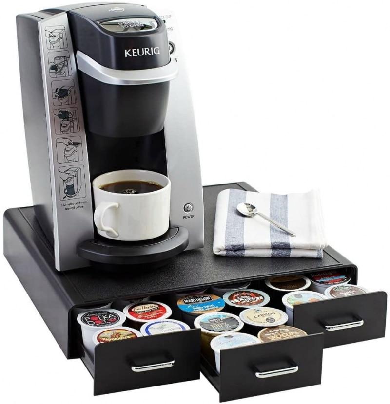 7. AmazonBasics Coffee Pod Storage Drawer