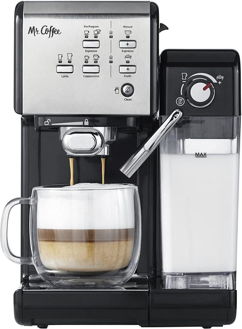 8. Mr. Coffee One-Touch CoffeeHouse Espresso and Cappuccino Machine