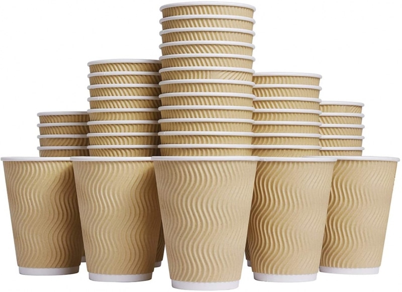 9. Luckypack Hot Disposable Paper Coffee Cups