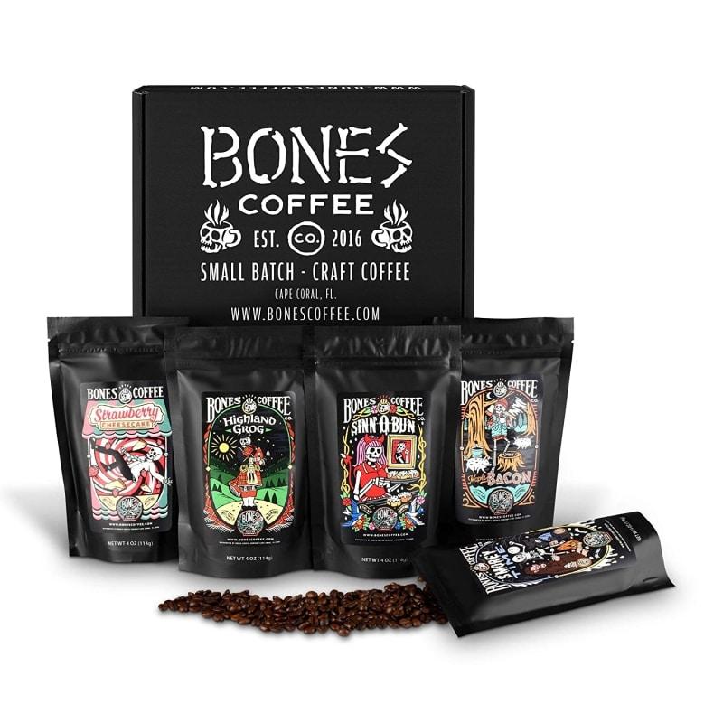 10. Bones Coffee Favorite Flavors Sample Pack