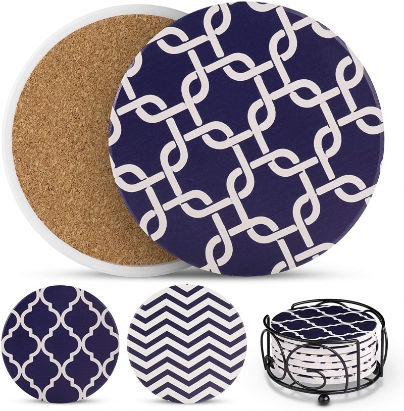 6. Ultimate Hostess Blue Coasters