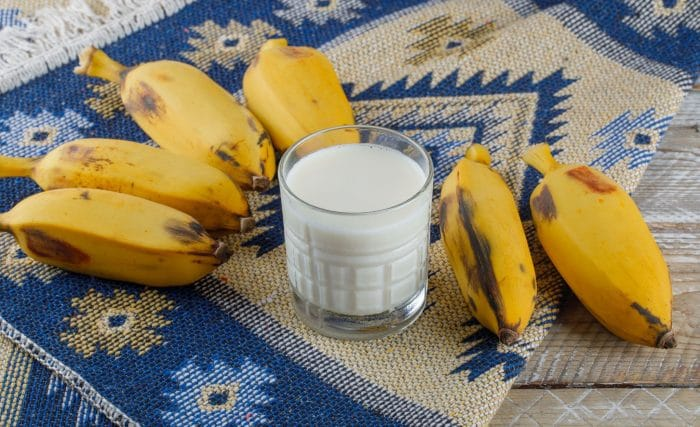 The Nutrition you can find in banana milk